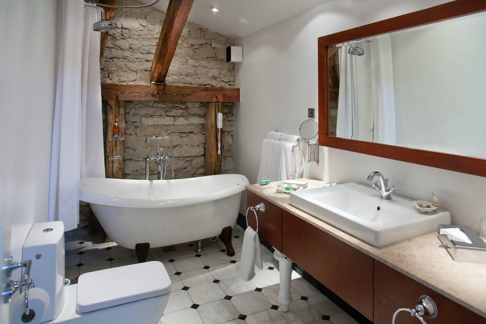 A hotel bathroom Renovating or updating your bathroom